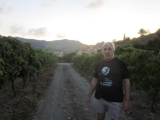 Manel Aisa una passejada per les vinyes de Porrera Priorat