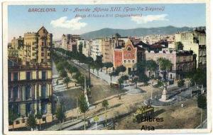 Barcelona nº 37 Avenida Alfonso XIII (Gran Vía Diagonal)   11 €