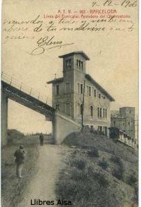ATV 162 Barcelona  Línea del Funicular  Apeadero del Observatorio  firmada 7-12-1906, 18 €