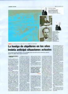 La Huelga de alquileres y el comité de defensa económica Barcelona abril -diciembre 1931 Sindicato de la Construcción CNT artículo publicado en el periódico CNT 416 febrero 2015