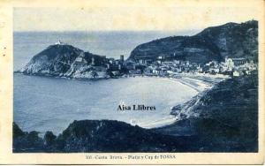 Tossa Costa Brava  Platja y cap de Tossa nº 101 ed. L Roisin fot Barcelona principios siglo XX , 15 €