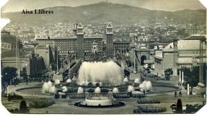 Barcelona Exposición Universal 1929 fuentes escrita al dorso recortada por los cantos  2 €