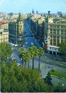 Barcelona nº 2290 Calle Pelayo y detalle Plaza Universidad ed. A Zerkowitz fotógrafo  años 60? 2 €