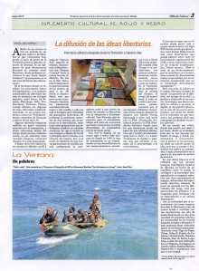 La difusión de las ideas libertarias (ediciones) articulo publicado en Rojo y Negro nº 286 enero 2015 CGT