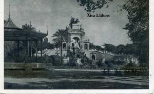 Barcelona 10 Parque de la ciudadela : La Cascada Ediciones Pablo Dümmatzen Barcelona años 30? b/n con ventanilla  4 €