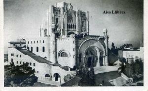 Barcelona 19 El Tibidabo templo expiatorio del Sagrado Corazón . ed. Ediciones Pablo Dümmatzen blanco y negro con ventanilla años 50?, 5 €