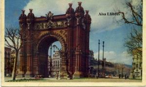 Barcelona 11 Arco del Triunfo Ed Heliotipia artística española Madrid Manen fotocolor con ventanilla años 60? 3 €