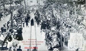 Barcelona Casa Provincial de Caridad Procesión del Corpus . Impr Casa de la cardad principios siglo XX 15 €
