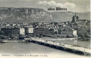 Postal Genéve 14 Vue Générale  de la Rive Gauche et le Lác. Ed. Lévy Fils et Cir Paris  s/f (principios siglo XX) 12 €