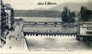 Genéve 48 Quai des Bergues et Pont de la Machine Lévy Fils et Cir Paris  s/f (principios siglo XX) 12 €