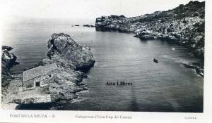 Port de la Selva 8 Calaprona (Vora Cap de Creus) ed. Llensa Guillera Barcelona amb ventanilla anys 20?  18 €