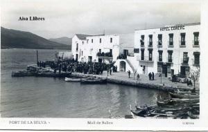 Port de la Selva  Moll de Bailen  ed. Llensa Guillera Barcelona amb ventanilla anys 20?  18 €