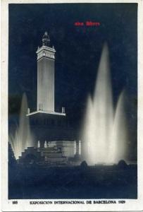 Barcelona 105 Exposición Internacional de Barcelona 1929. Plaza del Universo Detalle nocturno ed. Concesiones gráficas EIB  Editorial Fotográfica Barcelona 5 €