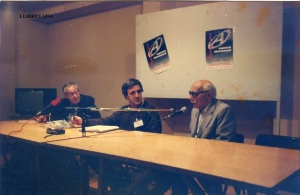 octubre de 1993 presentació llibre de Abel Paz Abel Paz, Manel Aisa y Jacobo Maguid Jornadas de anarquismo internacional