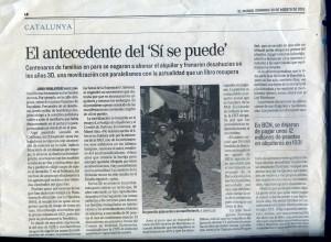 artículo de Jordi Ribalaygue sobre el llibre