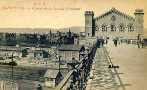 Barcelona Puente de la sección Marítima RSA. Ed. Rovira SA principios siglo XX 20 €