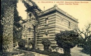 Villanueva y Geltrú Biblioteca Museo Balaguer Anexo Casa Sta Teresa Ed. Fototipia Thoma Barcelona principios siglo XX  10 €