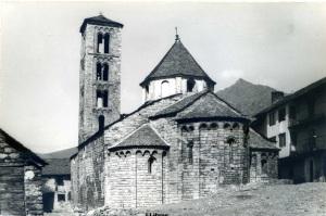 Santa María de Taüll (Pirineu Català Església románica S XII. Ed. Postal fotográfica Blanc i negre anys 60? 16 €