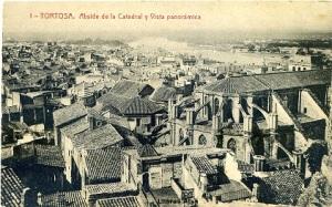 Tortosa nº 1 Absíde de la Catedral y Vista panorámica. Ed. Fototipia Thomas Barcelona nº5981, s/f (años 30?), 11 €