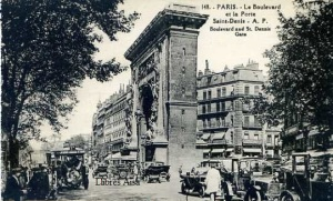 148 Le Boulevard et la Porte Saint Denis AP Boulevard and St Denis Gate  9€