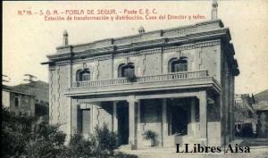 Pobla de Segur  Estación de transformación y distribución Casa del Director y Taller 14 €
