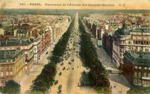 París 201 Panorama de l'avenue des Champs Elysées escrita al dorso y fechada el mayo de 1922 , 5 €