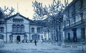 SanPedro de Premiá nº 11 Plaza y Casas Escuelas Roisin fot. Barcelona s/f (años 20?) 15 €
