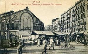 Barcelona Los encantes y Mercado de San Antonio Rovira SA s/d principis segle XX 17 €