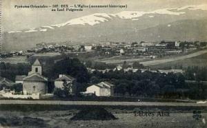 Pyrénées Orientales 507 HIX L'Eglise (monument Historique) au found Puigcerda. s/d (anys 10 ?)  blanco y negro 14 €