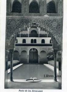 (Granada) Patio de los Arrayanes con ventanilla blanco y negro años 40?  5 €