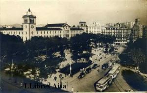 Plaça Universitat anys 50 fotogràfica  14 €