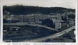 Barcelona (Vallcarca) nº 246 Hospital del Generalísimo y montaña del Tibidabo   ed. JVB  s/f  (años 40 o inicio de los 50) con ventanilla 12 €
