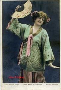 Miss Marie Studholme  226 0 Rotary Photo EC Whitock Birminghan  escrita al dorso y sellada en Birminghan 1914, 10 €