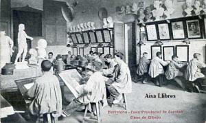 Barcelona Casa Provincial de Caridad Clase de Dibujo. Impr Casa Caridad s/f (principios siglo XX)  20 €