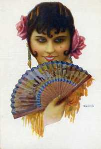 Tipo español núm. 300 (mujer con abanico) A Codina  Ediciones Victoria  edit. N Coll Salieti Barcelona s/f (principios siglo XX) 8 €