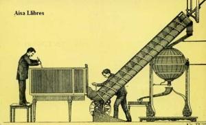 Serie B núm7 Elevación de bolas por el aparato helicoidal. Grabado de 1893. Dirección General de Tributos especiales FNMT Madrid s/f (años 60)  6 €