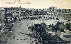 Barcelona Plaza de España.  RSA (Rovira SA) 1232/43 s/f (principios siglo XX) 18 €