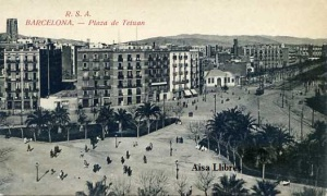 Barcelona  Plaza de Tetuán. RSA (Rovira SA) 1232/21 s7f (principios siglo XX) 20 €