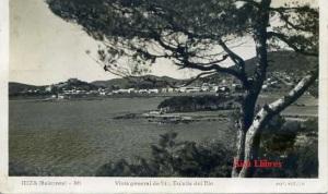 Ibiza (Baleares 86 Vista general de St. Eulalia del Río.  Foto Viñals Escrita  al dorso y fechada 5-7-1954 sello 10 cts. 8 €