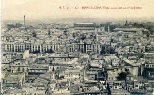 Barcelona Vista panorámica (Nordeste) ATV nº 57 Ed. Ángel Toldrá Viazo Barcelona s/f (años 10) 15 €