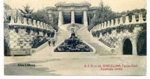 Barcelona 33  Parque Güell Escalinata Central ATV. Ed. Ángel Toldrá Viazo Barcelona Blanco y Negro s/f principios siglo XX , 20 €