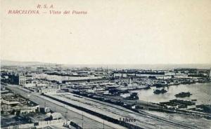 Barcelona  Vista del Puerto RSA  Rovira SA  n1232/40 s/f blanco y neghro años 10? , 14 €
