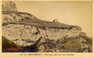 Montgrony núm.12 Vista des del camí de Castellar ed. Huecograbado Rieusset Barcelona s/f  anys 20? Color sepia con ventanilla 9 €