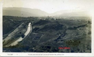 Tremp nº 1  Vista parcial de la Conca al fondo la población. Ed. Sin datos años 50 ¿ con ventanilla fotográfica 10 €