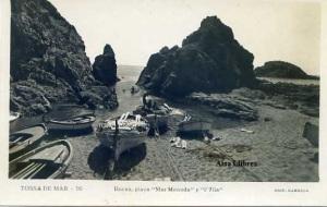 Tossa de Mar nº 16  Rocas, Playas –Mar Menuda- y l' Ylia. Edit Garriga s/f años 50? Fotográfica con ventanilla 12 €