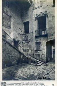 Barcelona Antiga Patí casa Comte de Sta. Coloma  nº 71 Ricart 12 €