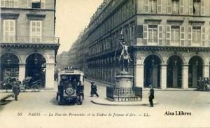 Paris nº 56 La Rue des Pyramides et la Status de Jeanne d'Arc – LL  Imp. Lewy fills principios siglo XX , 10 €