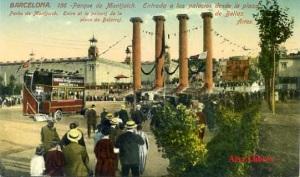 Barcelona  nº 156 Parque de Montjuich Entrada a los palacios desde la plaza de Bellas Artes ed. J Venini Barcelona Serie Standard 1929 20 €