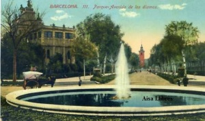 Barcelona nº 111 Parque Avenida de los álamos.  Ed. Jorge Venini Barcelona serie standard  s/f principios siglo XX 25 €