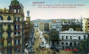 Barcelona nº 42 Calle de Pelayo y Estación Ferrocarriles de Cataluña. Ed. Jorge Venini Barcelona serie standart 25 €